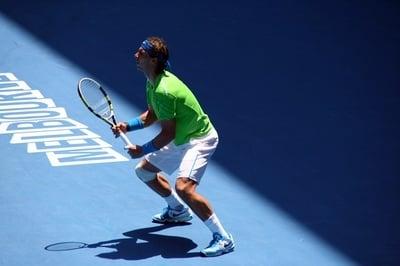 rafa nadal playing tennis