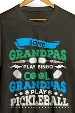cool grandpas play pickleball shirt