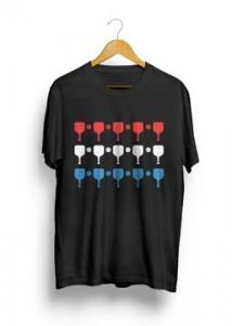 Red While and Blue paddles Pickleball T-shirt